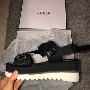 GUESS platform sandals